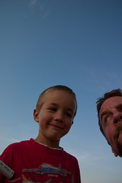 Nathan and me. This is a fairly accurate rendering of what a pip he is.
