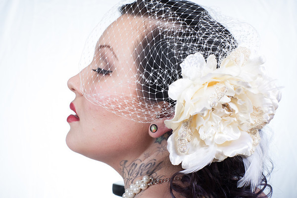 Bridal Hair Accessory Headshot