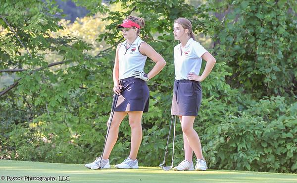Girls Varsity Golf action