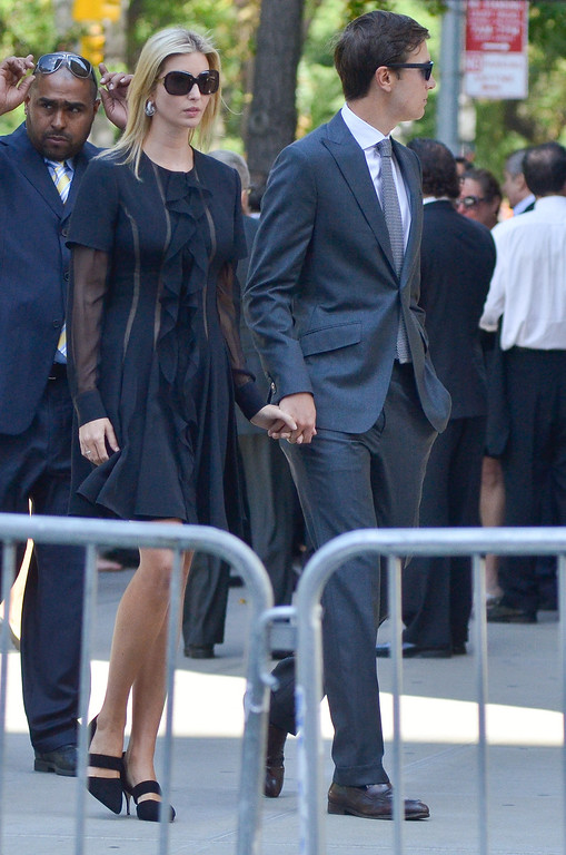 . Ivanka Trump and Jared Kushner attend the Joan Rivers memorial service at Temple Emanu-El on September 7, 2014 in New York City. (Photo by Kris Connor/Getty Images)
