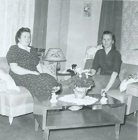 Mom and Aunt Gertrude 1957.jpg
