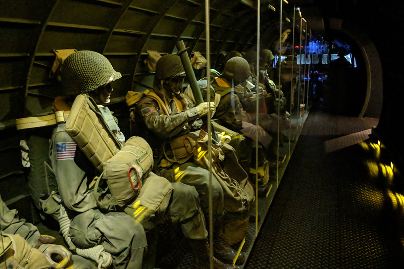 Paratroopers preparing to jump