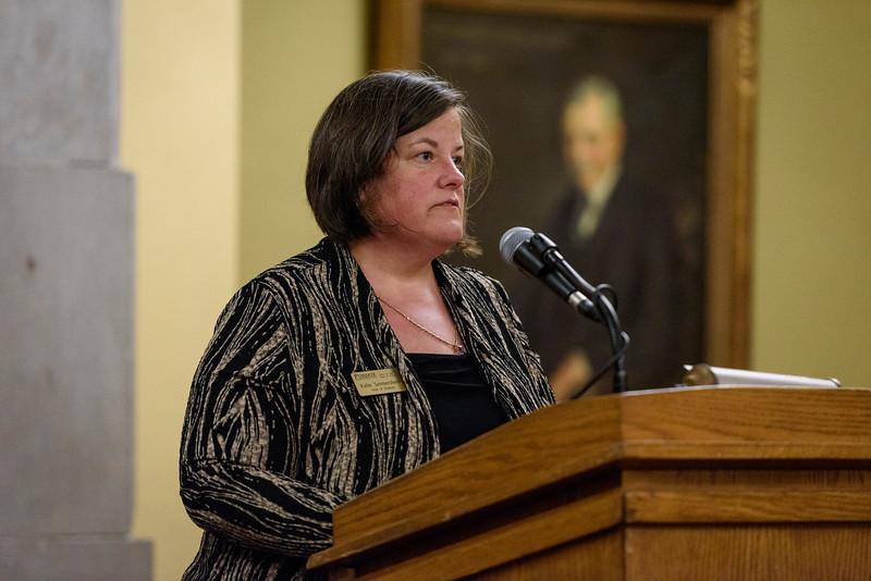 4/17/17 Golden Taps Ceremony, Dr. Katie Sermersheim