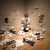 Jennifer Cantley (MFA) during her performance in the Fed Galleries.