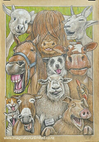 Laughing animals drawing by Dean Lawrence fb.jpg