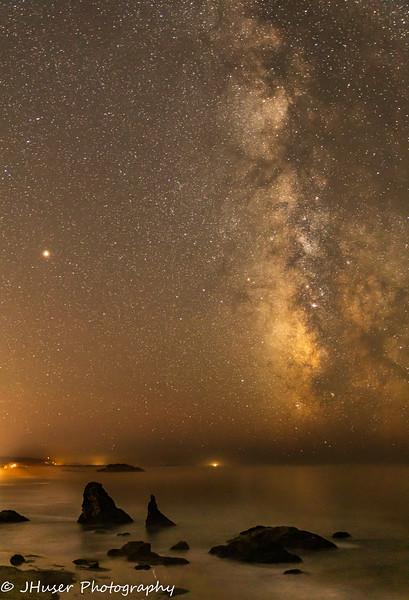 Milky Way over Bandon Beach in Oregon