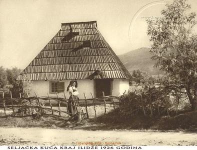 Seljačka kuća kraj Ilidže-1926.jpg