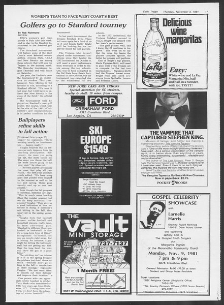 Daily Trojan, Vol. 91, No. 46, November 05, 1981