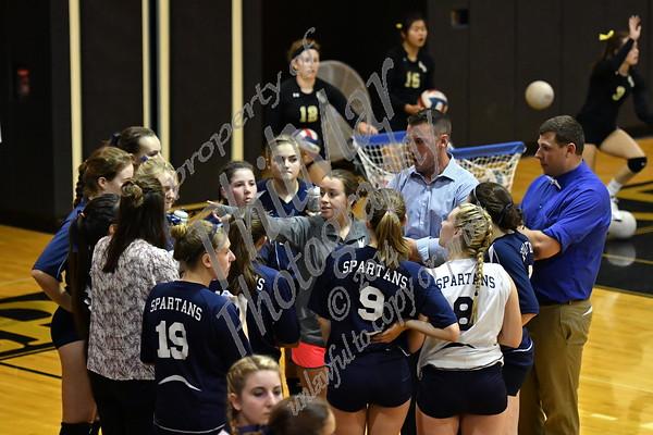 Wyomissing vs Berks Catholic Girls High School Volleyball 2016 - 2017