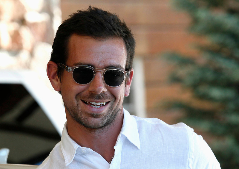 . Jack Dorsey, creator of Twitter and chief operations officer of Square, smiles on arrival at the annual Allen and Co. conference in Sun Valley, Idaho July 9, 2013.  REUTERS/Rick Wilking