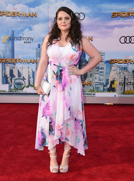 """. Lauren Ash arrives at the Los Angeles premiere of \""""Spider-Man: Homecoming\"""" at the TCL Chinese Theatre on Wednesday, June 28, 2017. (Photo by Jordan Strauss/Invision/AP)"""