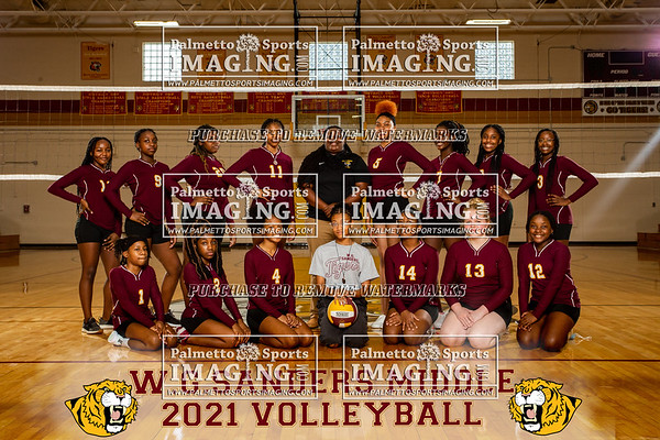2021 W.G Sanders Volleyball team and individuals