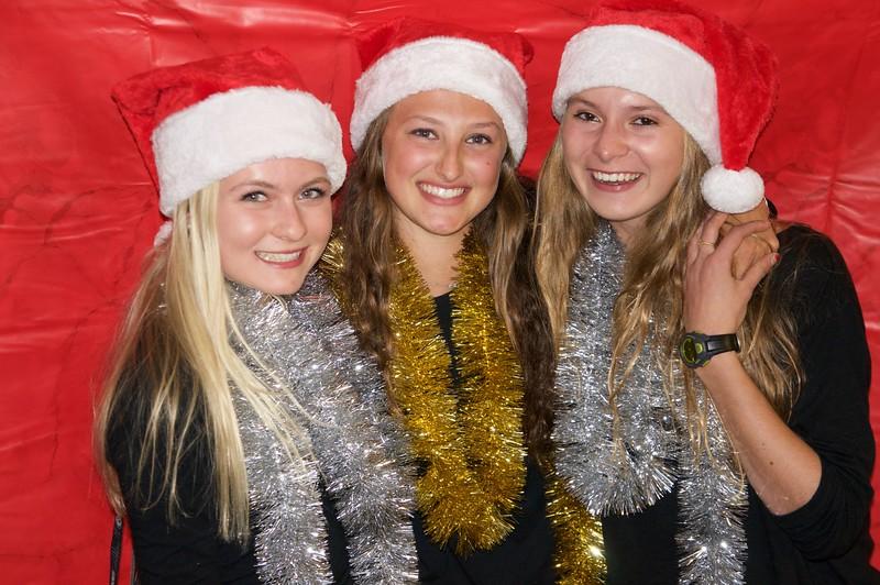 Jillian, Emma, and Morgan and Christmas elfs