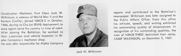 Jack Wilkinson...30Aug67...MCB-3