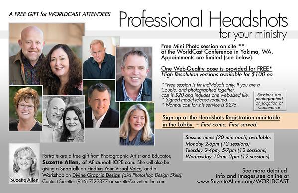 Headshot Promo Info
