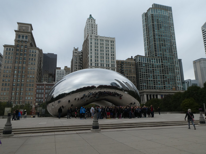 "Cloud Gate (""The Bean"") by Anish Kapoor. Millenium Park, Chicago"