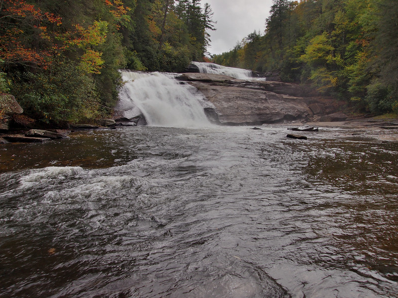 Triple Falls in DuPont State Forest. These are falls 1 and 2, 3 falls off from this point.