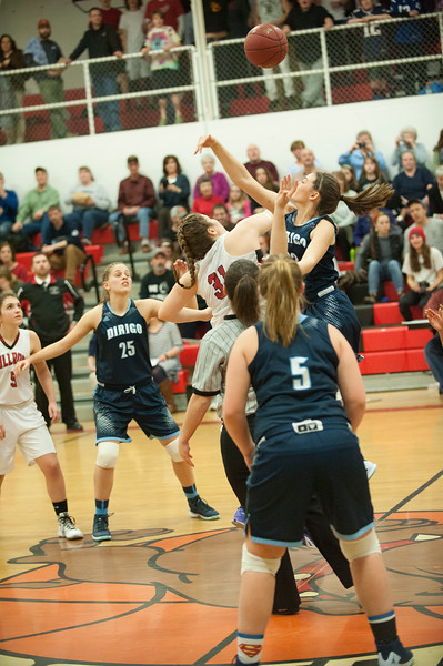 Feb 4 2016 Girls BB Hall-Dale vs Dirigo