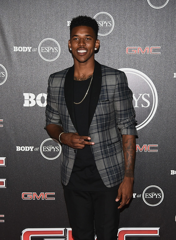 . HOLLYWOOD, CA - JULY 15:  Nick Young of the Los Angeles Lakers arrives at the ESPN\'s BODY at ESPY\'s Pre-Party at Lure on July 15, 2014 in Hollywood, California.  (Photo by Michael Buckner/Getty Images)