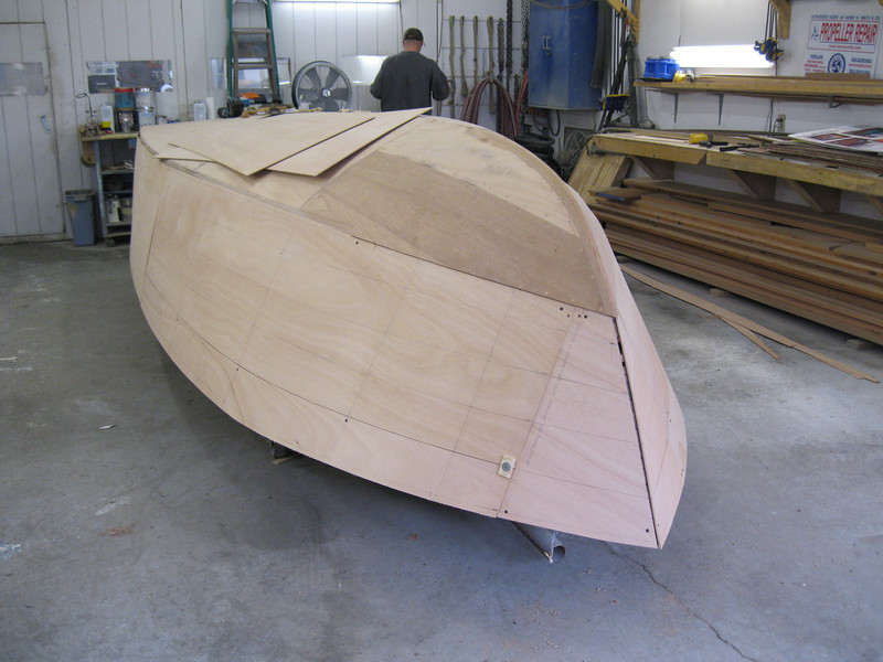 Port view of plywood fit.