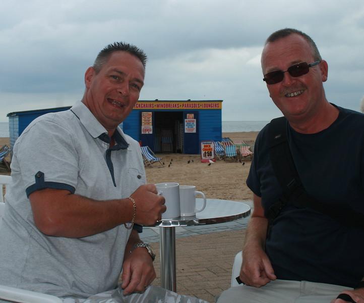 Gary enjoying a brew  Uncle ,John Pays again 2013