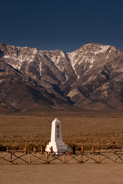 Manzanar cemetery full moon time lapses