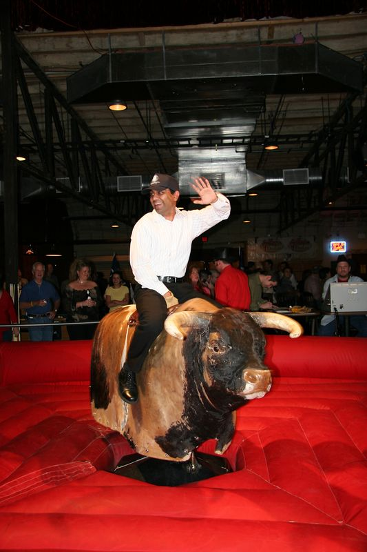 The same principles that apply to living life apply to riding a bull: Keep your balance even when the ride gets tough and enjoy every moment of it.