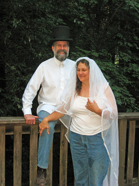 Dave wore this hat at his wedding.