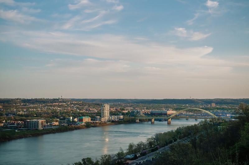 Ohio River from Eden Park in Cincinnati.