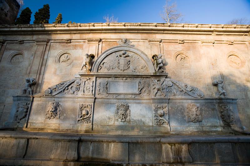 Charles V fountain, Alhambra, Granada, Spain