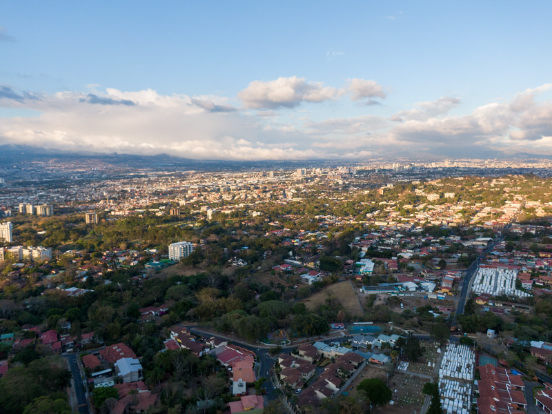 Aerial View of Escazu, Costa Rica
