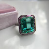 11.77ct Tourmaline Halo Ring by Leon Mege, AGL Cert 31
