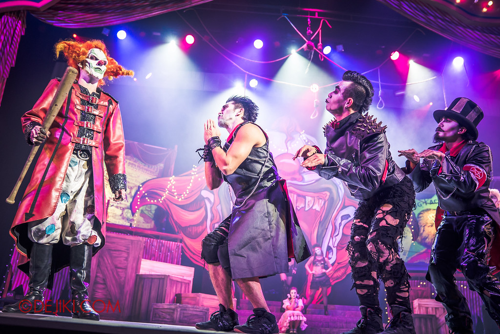 Halloween Horror Nights 6 - Jack's Recurring Nightmare Circus / Whack a Head - Mary, Scary, Hairy beg Jack