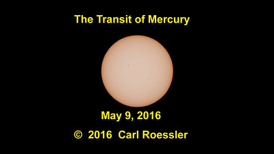 The Transit of Mercury  May 9, 2016