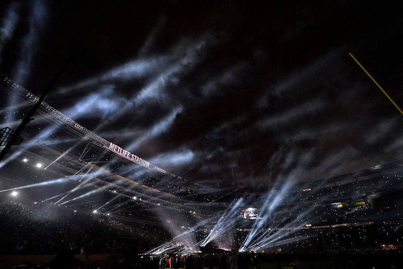 . Bruno Mars performs during the halftime show at Super Bowl XLVIII at MetLife Stadium in East Rutherford, New Jersey Sunday, February 2, 2014. (Photo by AAron Ontiveroz/The Denver Post)
