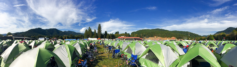 Panorama across camp in Glendale.