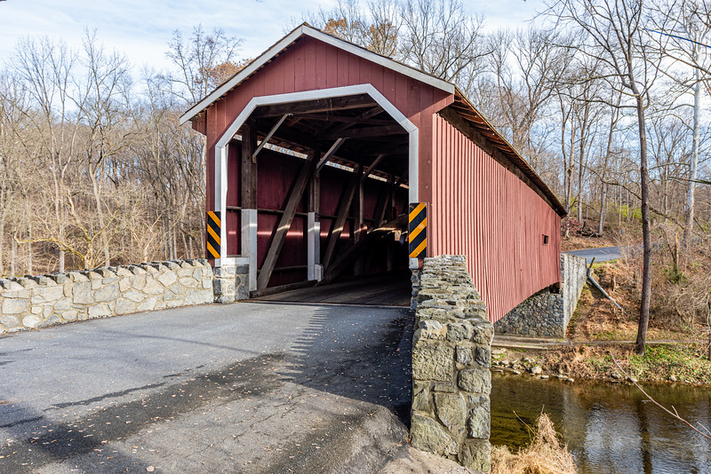 Sun Shines on Kurtz Mill Covered Bridge