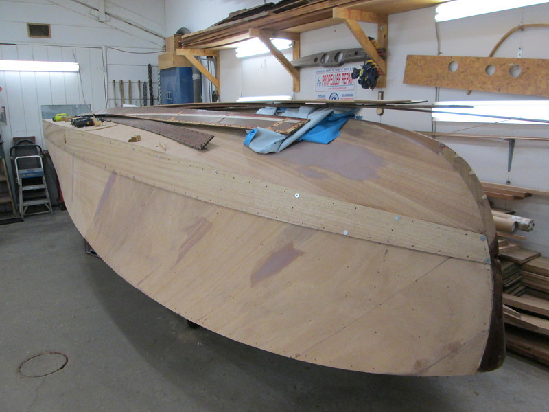Port front view of the first side plank fit.