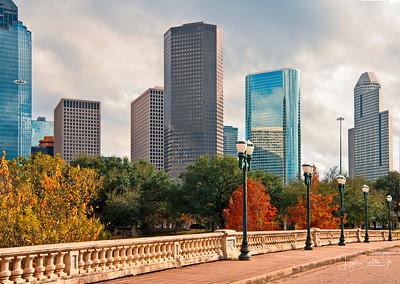 Houston Skyline - Allen Parkway Landscapes