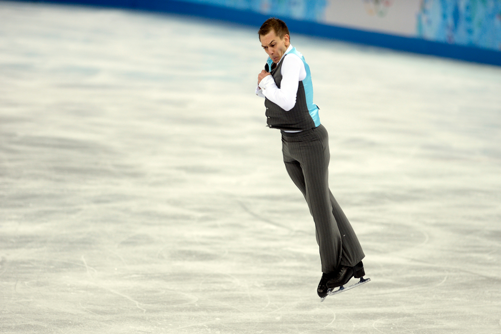 . Germany\'s Peter Liebers performs during the men\'s figure skating free skate. Sochi 2014 Winter Olympics on Friday, February 14, 2014. (Photo by AAron Ontiveroz/The Denver Post)