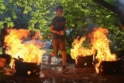 Mud Run Flame Photos