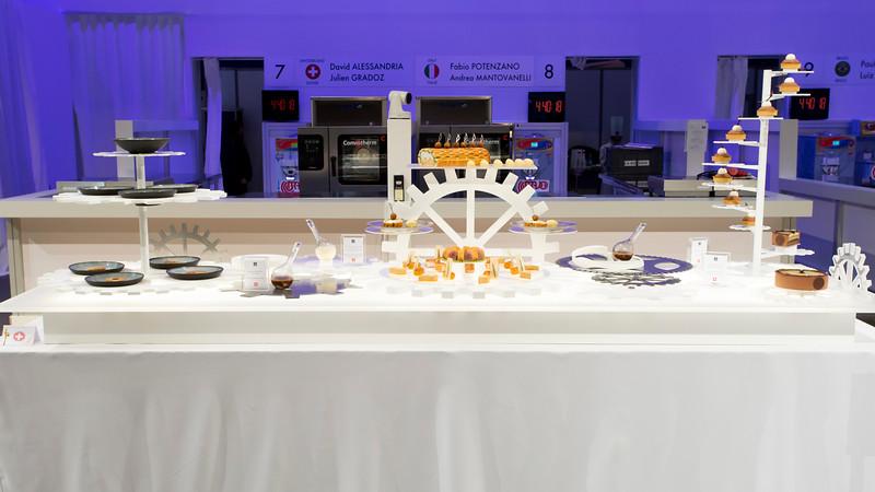 Le buffet de L'équipe Suisse, qui à remporté le prix du Meilleur Traiteur du Monde