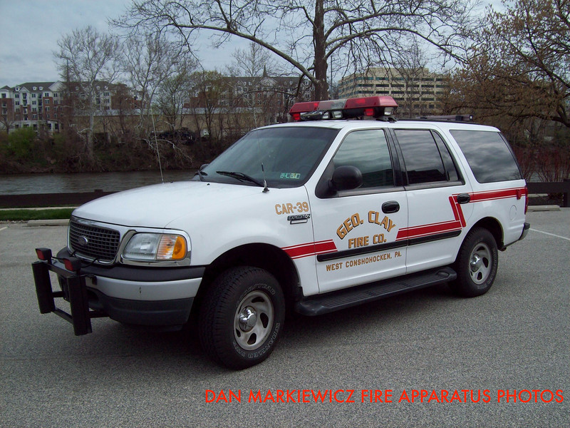 GEORGE CLAY FIRE CO. CAR 39 2000 FORD OIC UNIT