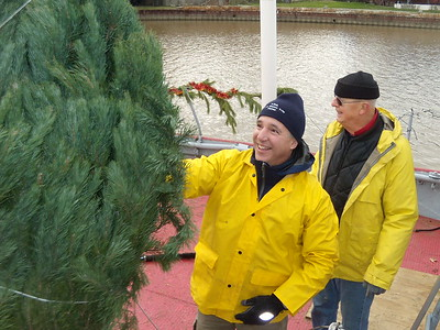 December 5, 2009, The Christmas Tree Ship arrives at McGarvey's Landing