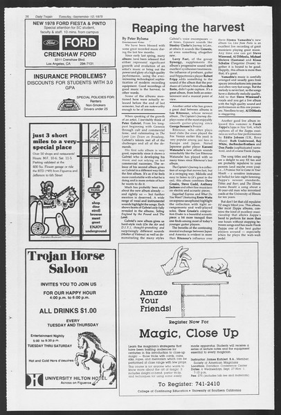 Daily Trojan, Vol. 75, No. 1, September 12, 1978