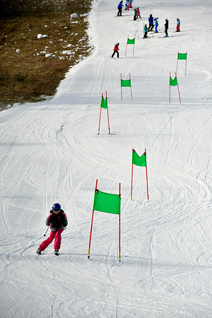 1/12/2019 Mike Orazzi | Staff Intro to Racing Class participant Eva Mendes at Mount Southington Ski Area on Mt Vernon Road in Plantsville Saturday.