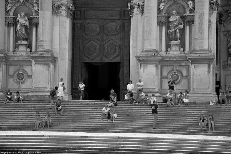 The staircase of Santa Maria delle Salute