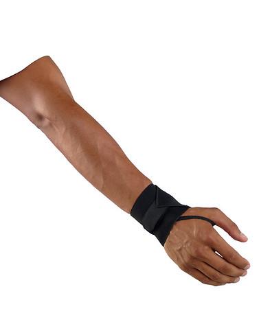 Wrist Band Black with Thumb Loop