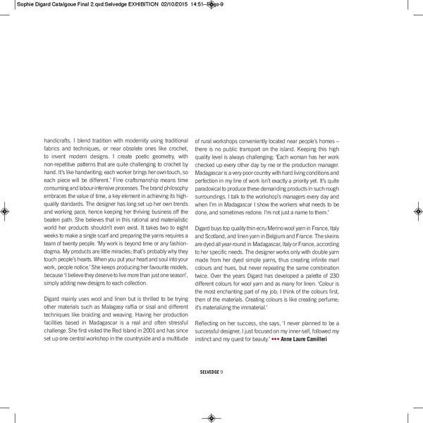 Selvedge - catalogue - 2015