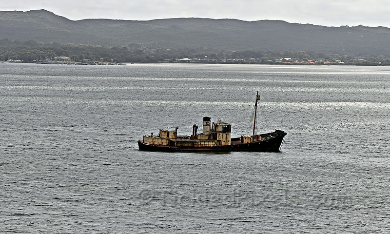 Cheynes II aground in Princess Royal Harbour in Albany